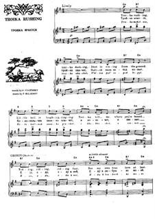 Troika Rushing. Romance: Para vocais e piano by Pyotr Bulakhov