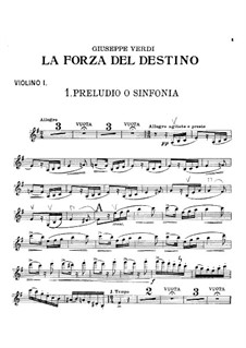 La forza del destino: Abertura - violino parte I by Giuseppe Verdi