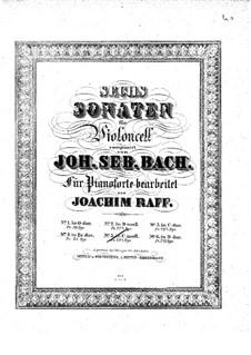Suite for Cello No.5 in C Minor, BWV 1011: arranjo para piano by Johann Sebastian Bach