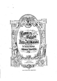 Romances and Ballades, Op.45: arranjo para piano by Robert Schumann