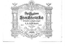 Passacaglia and Fugue in C Minor, BWV 582: arranjos para pianos de quatro mãos - partes by Johann Sebastian Bach
