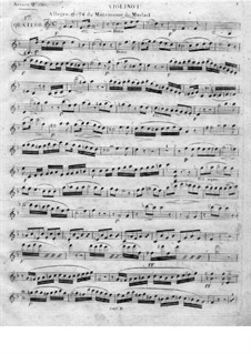 String Quartet No.1 in D Minor: violino parte I by Juan Crisóstomo de Arriaga