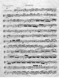 String Quartet No.1 in D Minor: violino parte II by Juan Crisóstomo de Arriaga