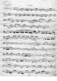 String Quartet No.1 in D Minor: parte viola by Juan Crisóstomo de Arriaga