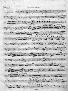 String Quartet No.1 in D Minor: parte violoncelo by Juan Crisóstomo de Arriaga