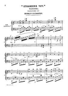 Strangers Yet: Version for piano (E Flat Major) by Claribel