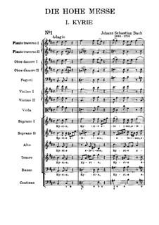 Kyrie: Partitura completa by Johann Sebastian Bach