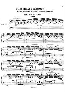No.1 Liebesbotschaft (Message of Love): Para Piano by Franz Schubert