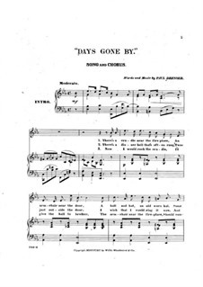 Days Gone By: Days Gone By by Paul Dresser