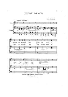 Glory to God: Glory to God by Paul Dresser