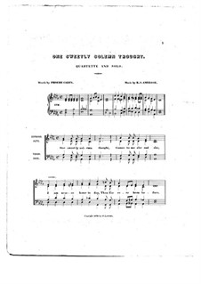 One Sweetly Solemn Thought: For vocal quartet by Robert Steele Ambrose