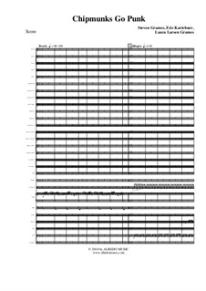 Chipmunks Go Punk: Full orchestra, AMSM18 by Steven Grames, Eric Kartchner, Laura Larsen Grames