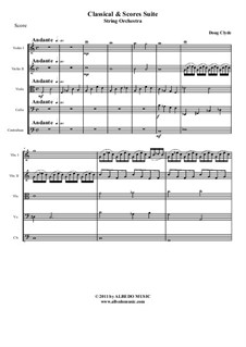 Classical and Scores Suite: String orchestra, AMSM27 by Doug Clyde