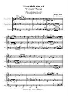 Three Short Pieces: partitura completa by Dumitru Sapcu