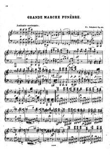 Grand Marche Funebre d'Alexandre I, D. 859 Op.55: Para Piano by Franz Schubert