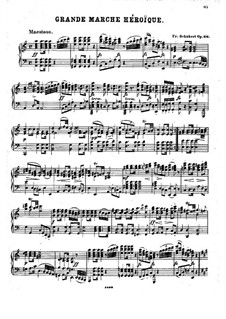 Grand Heroic March for the Coronation of Nicholas I of Russia, D.885: Para Piano by Franz Schubert