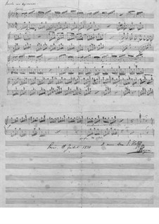 Prelude in A Flat Major, B.86 KK. IVb/7: For piano (Manuscript) by Frédéric Chopin