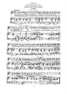 Seven Songs, Op.104: Partitura piano-vocal by Robert Schumann