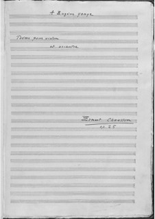 Poem in E Flat Major, Op.25: Partitura completa by Ernest Chausson