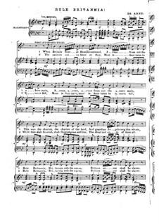 Rule Britannia: Para voz, coro e piano by Thomas Augustine Arne