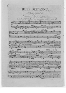 Rule Britannia: For voices, flute and piano by Thomas Augustine Arne