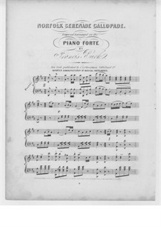 Norfolk Serenade Gallopade: Norfolk Serenade Gallopade by Francis Buck