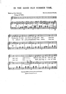 In the Good Old Summer Time: para vozes e piano by George Evans