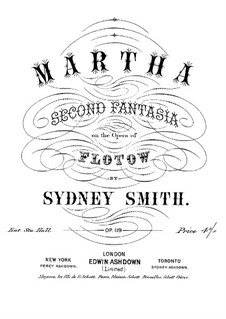Martha, or The Market at Richmond: Fantasia for piano No.2 by Friedrich von Flotow