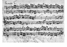 No.7 in E Minor, BWV 778: para cravo (Manuscrito) by Johann Sebastian Bach