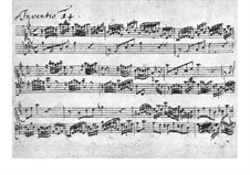No.14 in B Flat Major, BWV 785: para cravo (Manuscrito) by Johann Sebastian Bach