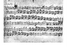 No.5 in E Flat Major, BWV 776: para cravo (Manuscrito) by Johann Sebastian Bach