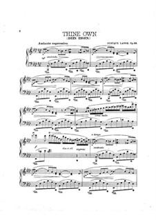 Dein eigen (Thine Own), Op.54: para um único musico (Editado por H. Bulow) by Gustav Lange