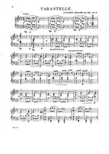 Two Tarantellas, Op.85: Tarantella No.4 by Stephen Heller