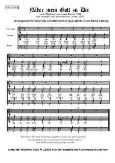 Nearer, My God, To Thee: partituras de vocais, Op.228 No.2 by Lowell Mason