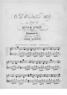 The Brattleboro Waltz and Quick Step: Para Piano by George Hews