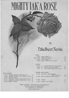 Mighty lak' a Rose: em G maior by Ethelbert Woodbridge Nevin