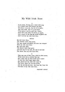 My Wild Irish Rose: em B flat maior by Chauncey Olcott