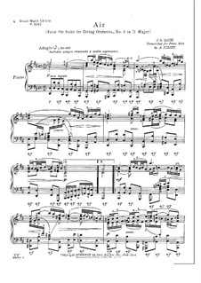 Aria: Version for piano by Siloti by Johann Sebastian Bach