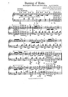 Burning of Rome: Para Piano by Edward Taylor Paull