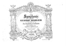 Symphony No.5 in C Sharp Minor: para piano de quadro mãos by Gustav Mahler