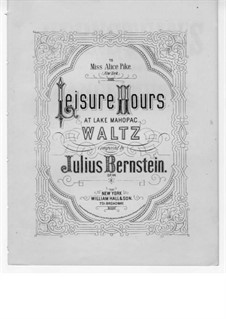 Leisure Hours at Lake Mahopac: Leisure Hours at Lake Mahopac by Julius Bernstein