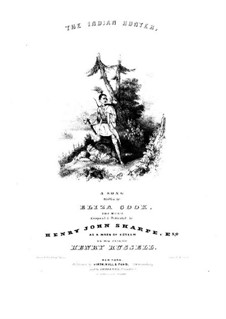 The Indian Hunter: Partitura Piano-vocal by Henry Russell