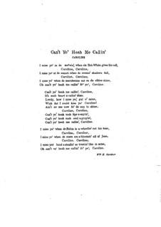 Can't Yo' Heah Me Callin' Caroline: Para vocais e piano by Caro Roma