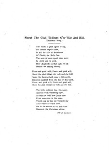 Shout the Glad Tidings O'er Vale and Hill: Shout the Glad Tidings O'er Vale and Hill by Caro Roma