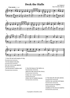 Deck the Hall: For accordion (or accordion, or piano) by folklore