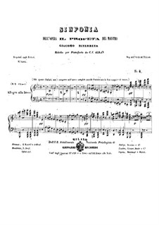 Le prophète (The Prophet): Overture, para piano by Giacomo Meyerbeer