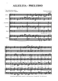 Alleluia - Canon on the Preludio in E minor: Alleluia - Canon on the Preludio in E minor by Johann Sebastian Bach