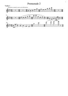 Promenade II: Para cordas, partes by Modest Mussorgsky