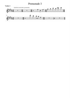 Promenade III: Para cordas, partes by Modest Mussorgsky