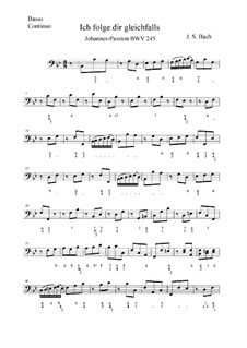 St John Passion, BWV 245: No.13 – Basso Continuo Part by Johann Sebastian Bach